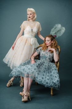 Would love to wear one of these to your wedding ~ Tinted Lace and Tea Length Wedding Dresses by Joanne Fleming Design
