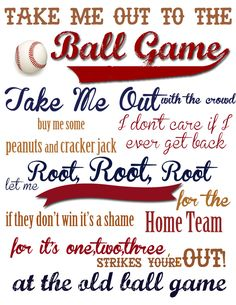 Take Me Out to the Ball Game {With FREE Printable!}