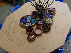 Full Table Line-Designs - from Rachel invit, classroom, idea, art, linedesign, learning, fine motor, kindi, full tabl