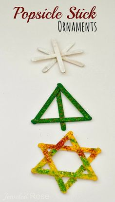 Craft Stick Ornament Crafts for Kids  - pinned by @PediaStaff – Please Visit ht.ly/63sNtfor all our pediatric therapy pins