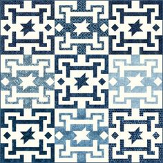 """A-Mazed quilt, 52 x 52"""", pattern by A Quilter's Dream"""