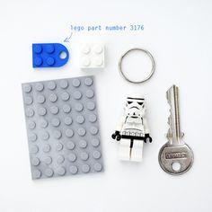 How to: Make a DIY Lego Key Holder | Man Made DIY | Crafts for Men | Keywords: toy, home, key, lego