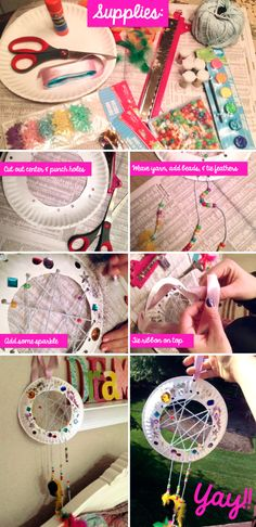 Create IT:  A DIY Dream Catcher craft for girls!  So easy, so dreamy!