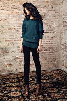 Dress this up with a pencil skirt and tights for a holiday party!