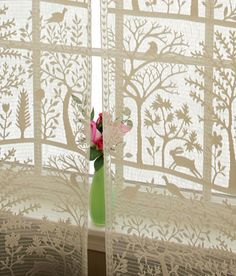 Tree of Life lace curtains from Country Curtains.