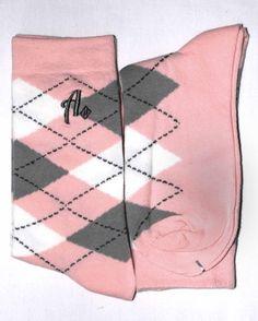 pink and grey socks