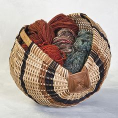 Scottish Yarn Basket by Shirley Eichten Albrecht Fiber ~ 12 x 12