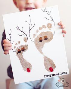 Reindeer foot print keepsake