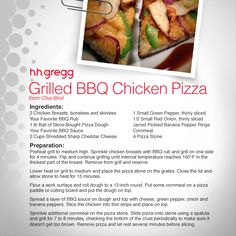 Use your favorite BBQ sauce in our fun Grilled BBQ Chicken Pizza recipe! #FoodieFriday