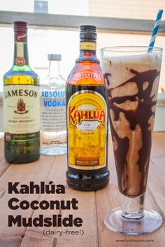 Kahlua Coconut Mudslide, a dairy-free recipe. Photo and recipe by Irvin Lin of Eat the Love