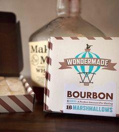 bourbon marshmallow, packag, food, drink, guin marshmallow, wondermad bourbon, gift idea, marshmallows, dessert