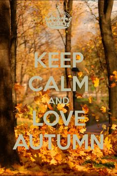 Keep calm and love Autumn... #autumn