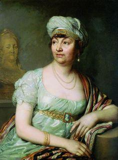 1812 Portrait of Louise Germaine de Stael by Vladimir Borovikovsky art galleri, galleries, inspiration, friends, queens, colors, kids, portraits, embellishments