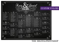 Wedding Seating arrangement chart Sign Wedding Sign Reception chalkboard rustic Decoration Digital Personalized Printable, downloadable jpg