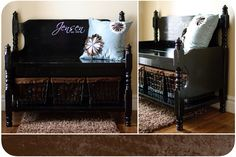 Bench's--made from old baby crib  Cassandra Design: Search results for crib bench