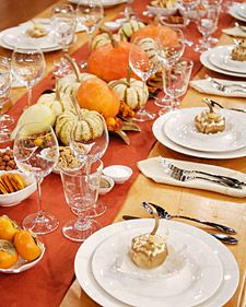 Martha demonstrates how to set a beautiful Thanksgiving table using some items from the Macy's Martha Stewart Collection.