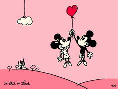 Mickey and Minnie = <3 ... From: THE HAPPIEST BLOG ON EARTH.