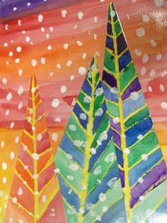 winter tree art