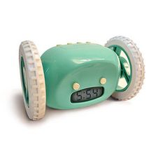 I so need this! Once the alarm goes off the alarm clock rolls around the floor so by the tome you catch it you are awake.  Wake up!!