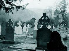 Graveyard in Glendalough - County Wicklow, Ireland