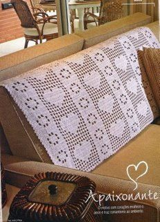 Sofa crochet cover, filet work ♥LCM♥ with diagram