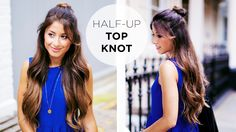 Half Up Messy Top Knot Hairstyle Tutorial on our Luxy Hair youtube channel https://www.youtube.com/watch?v=-CjzT0DNNVI  perfect everyday hairstyle, effortless, chic and super trendy :)