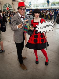 Doctor Who and Dalek by uncle_shoggoth on Flickr.  I would totally wear that dress.