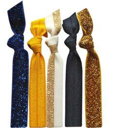 Glitz Spirit Hair Tie 5 Pack - UC Berkeley