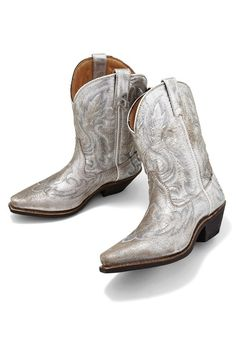 metallic boots!  (at Boston Proper)