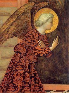 Tomasso di Cristoforo Fini (Italian,1383-1440-7) ~'The Archangel Gabriel'