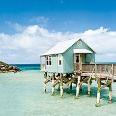 cool little beach hut over the water