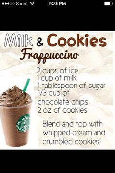 Make Your Own  Frappuccino