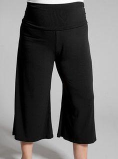 Essential Gaucho Pants (BLACK) by Curvyclothing on CurvyMarket.com Plus Size