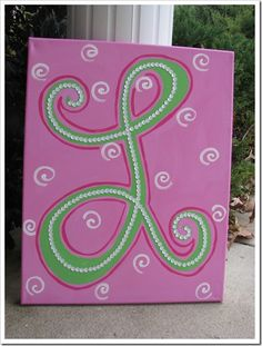For little girls bday party....everyone decorate canvas