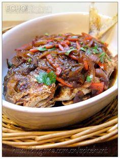 Echo's Kitchen: Ikan Masak Kicap (Fried Pomfret in Soy Sauce)