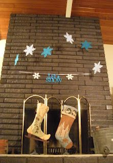 Instead of cleaning or painting brick — stain your brick fireplace with concrete stain — Retro Renovation