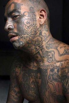 Mara gang member 'Smoking,' 25, prison portrait in Chimaltenango, Guatemala. Photo AP / Rodrigo Abd