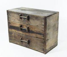 Antique Wooden Storage Chest / Box by ohiopicker on Etsy, $198.00