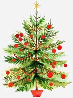 Christmas tree illus