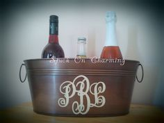 Personalized Oval Antique Metal Tub
