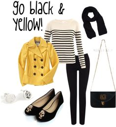 """""""Go Black  Yellow!"""" by marleylilly - App State!"""