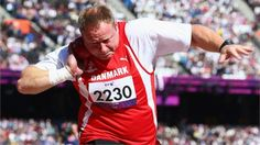 Jackie Christiansen of Denmark competes in the Men's Shot Put - F42/44 Final on day 2 of the London 2012 Paralympic Games at the Olympic Stadium