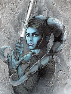 Cover art for Jedi: Aayla Secura by Jan Duursema lightsab, geek, star war, starwar, war univers, femal warrior, aayla secura, femal jedi, nerd fighter