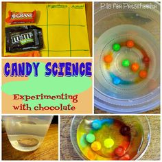Candy Science: Experimenting with chocolate {P is for Preschooler}
