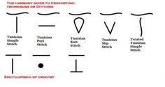 Tunisian Stitch Symbols
