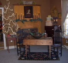 early american dining room.