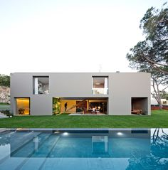squared+: House in Quinta Patino I valsassina arquitecto, living spaces, quintapatino, pool, architectur, quinta patino, frederico valsassina, modern houses, portugal