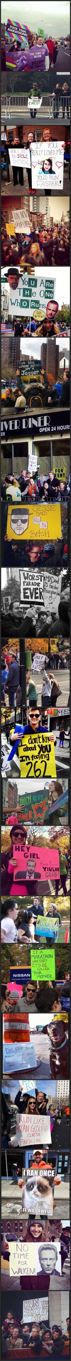 The best of the NYC marathon signs...