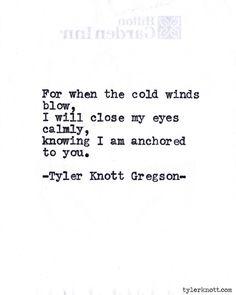 Typewriter Series #587byTyler Knott Gregson