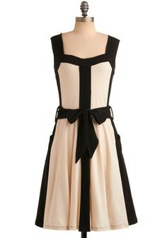 In line with style dress by ModCloth. #dress #white #black